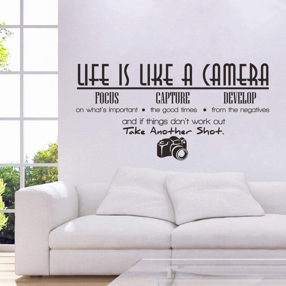 Wall Decals for Living Room, Quotes, Home Decor, Waterproof Wall