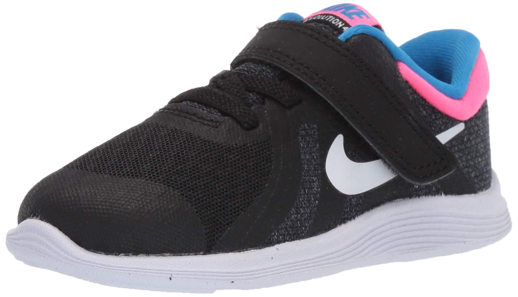 Nike Girls Revolution 4 (TDV) Sneaker, Black/White - Anthracite - Hyper Punch, 9C Toddler US Toddler by Nike