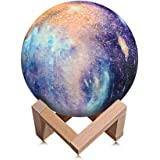 Night Light for Kids Moon Lamp 16 Colors LED 15cm 3D Print Star Moon Light with Stand, Touch & Remote Control & USB…
