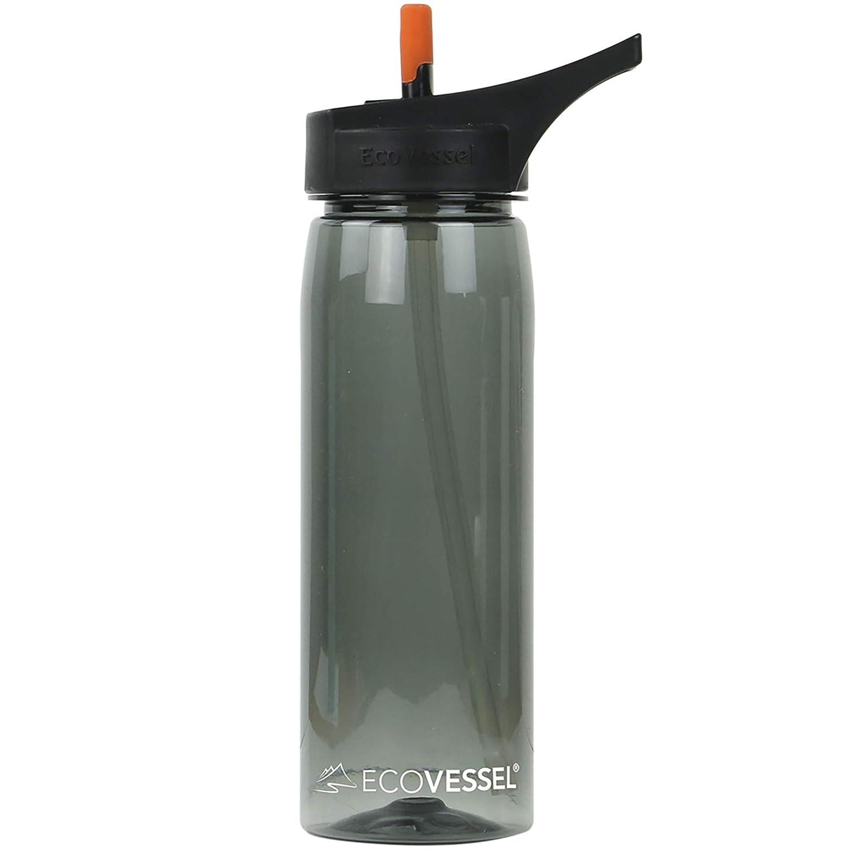 Ecovessel Wave Tritan Kunststoff Sport Wasser Flasche mit Flip Stroh Top, 25 Unzen