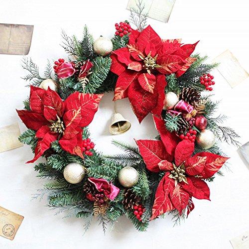 グランドグルー クリスマスリース 造花 直径50cm 特大 大きい タイプB B0768B84LQ 10800 タイプB タイプB