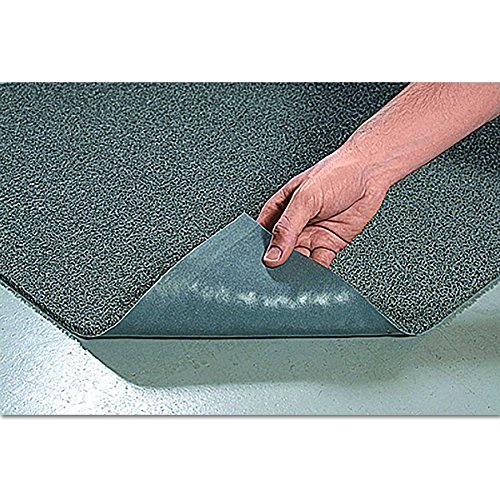 Crown DEMB46GY Spaghetti Vinyl-Loop Floor Mat, Vinyl, 48 x 72, Gray by Crown