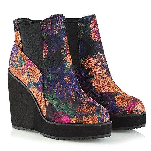 Essex Glam Womens Laarzen Voor Dames Chelsea Elasicated Enkellaarzen Bloemen