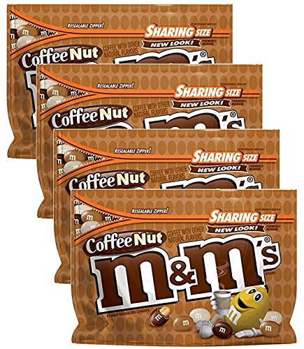 (M&M's Coffee Nut Chocolate Candy, 9.6 oz (Pack of 4))