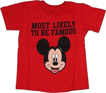 Disney Mickey Mouse Probablemente más Famoso niño T-Camisa (7 ...