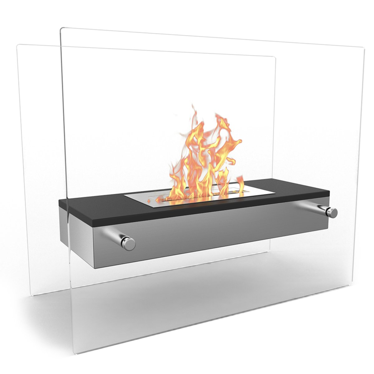 Regal Flame Vista Fire Pit Tabletop Portable Bio Ethanol Fireplace in Black by Regal Flame