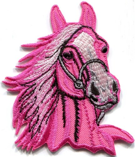 (Horse Colt Bronco Filly Mustang Pony Stallion Steed Applique Iron-on Patch S-393 Handmade Design From Thailand )