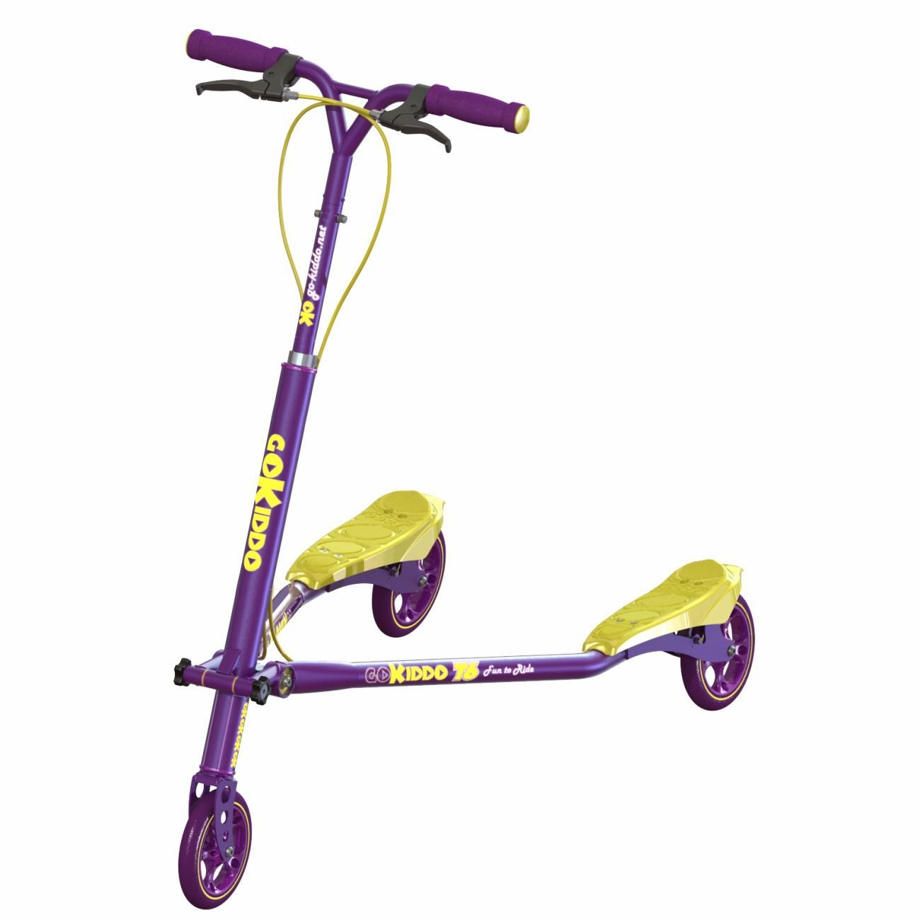 Trikke Go-Kiddo T6 Carving Scooter, Purple GK-T6-PP