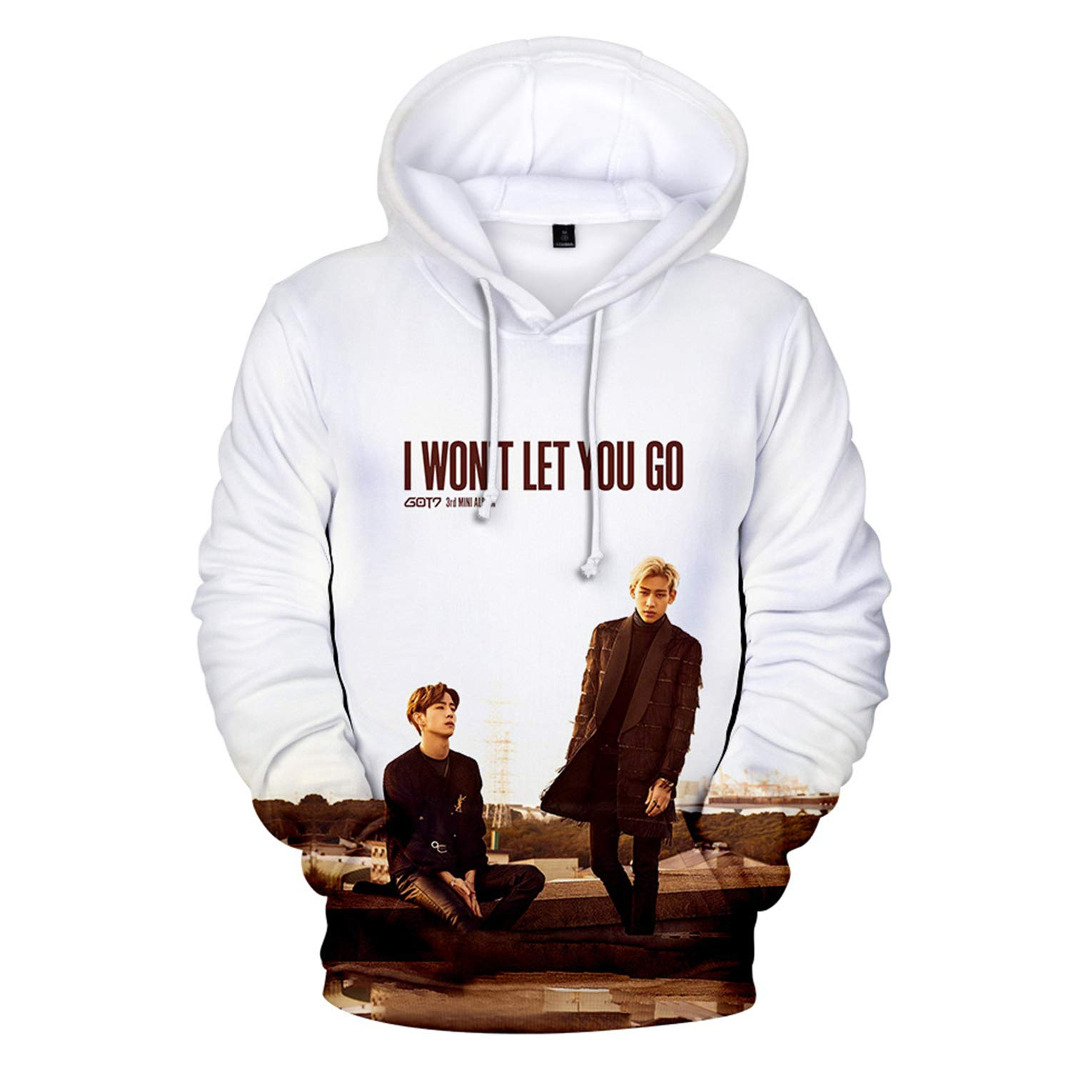 CHAIRAY Kpop Got7 I Wont Let You Go Hoodie Jackson Bambam Mark JB 3D Print Pullover Sweater