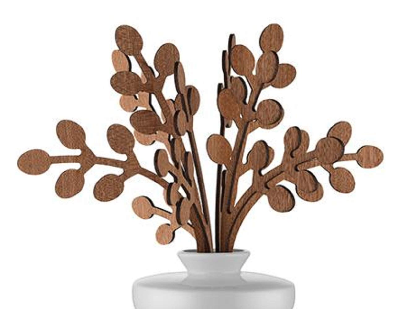 Alessi The Five Seasons Brrr Replacement Diffuser Leaves, Mahogany Wood, by Marcel Wanders