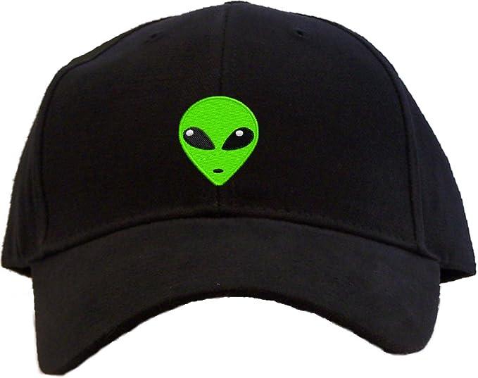6367993391a Amazon.com  Green Alien Head Embroidered Low Profile Baseball Cap ...