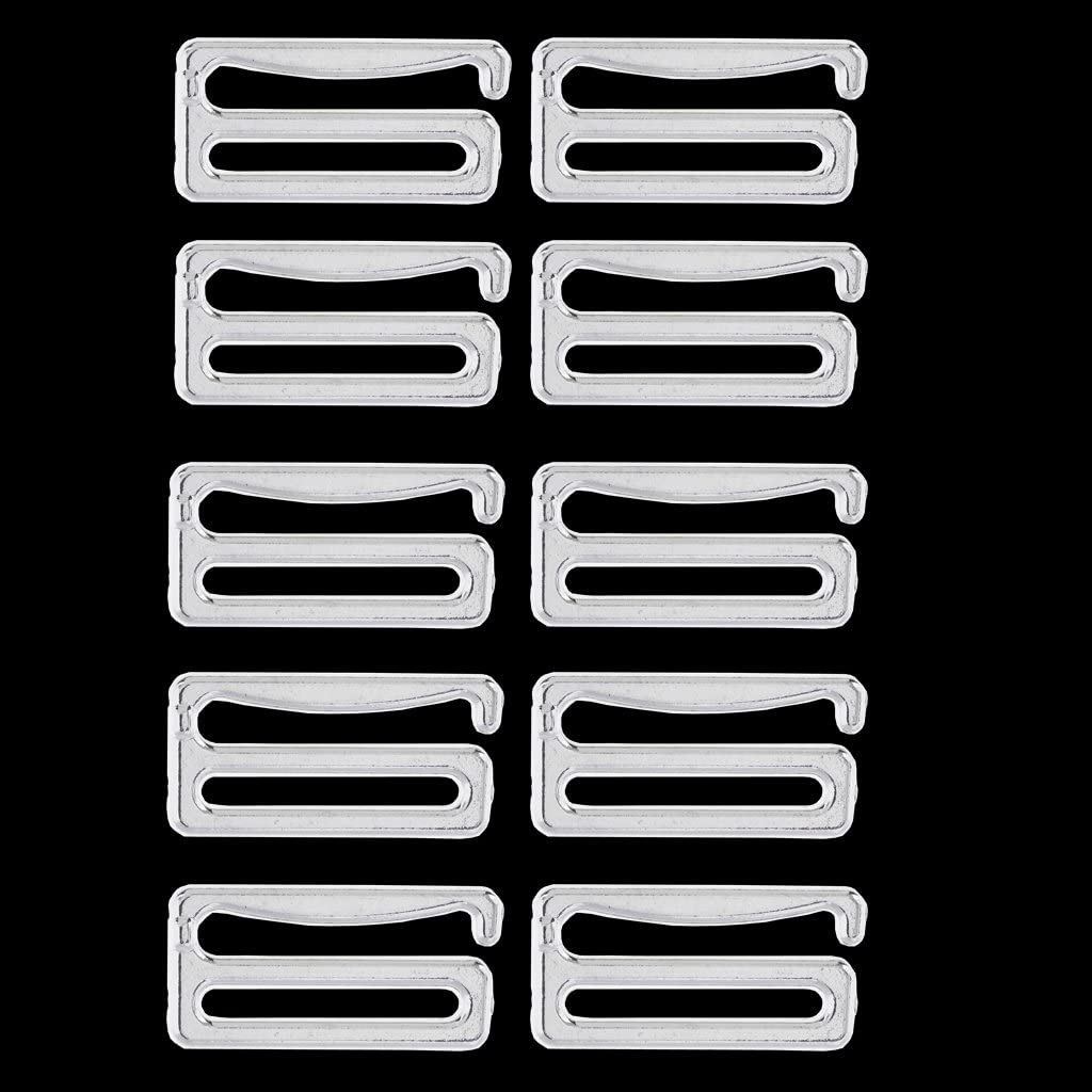 19mm 10 Pieces Silver Metal Bra Strap Adjuster Slider Hook Lingerie Supplies Sewing Craft