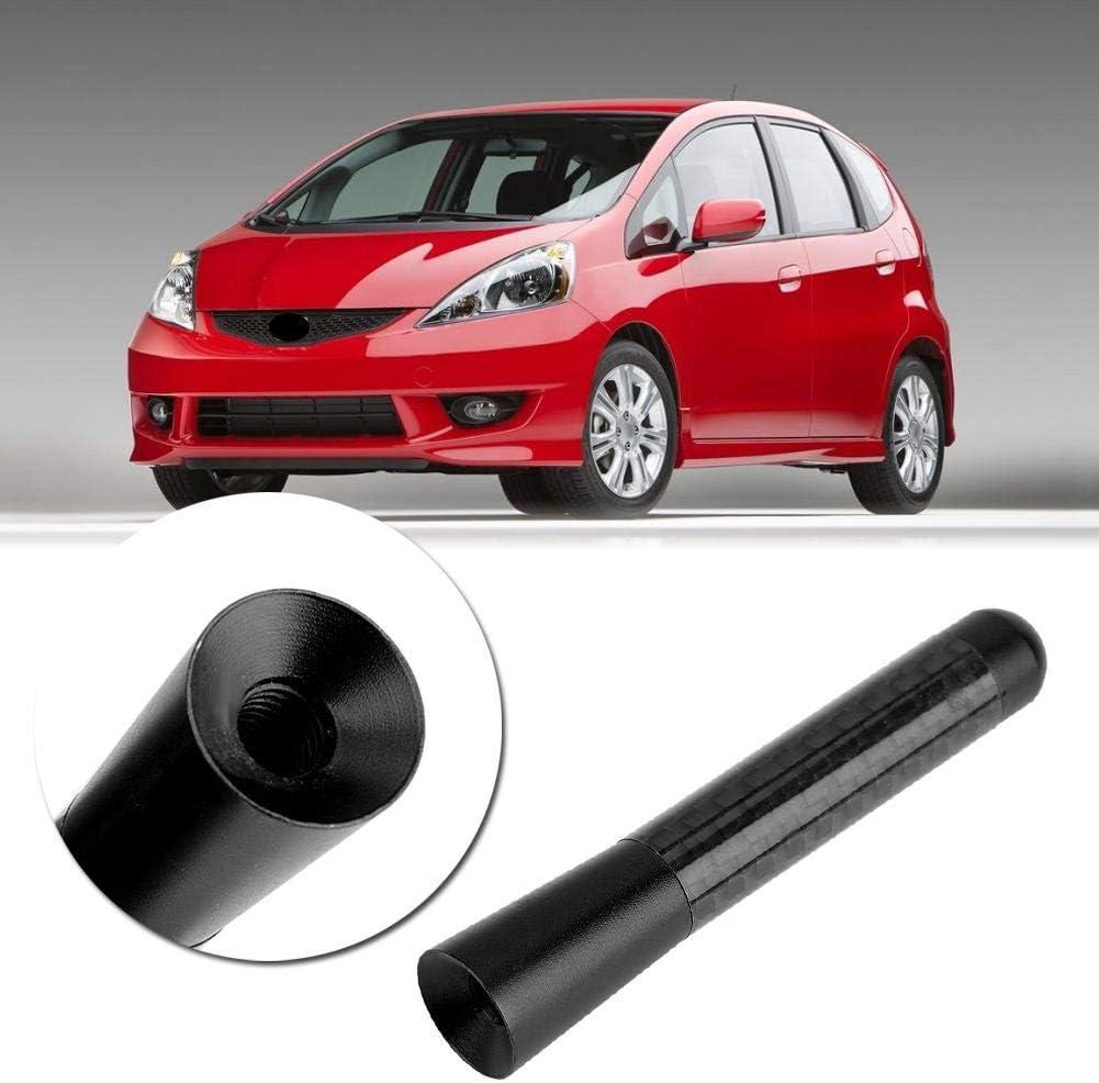 Black Carbon Fiber Screw Radio Aerial for Universal Car Modification 3inch Auto Short Antenna