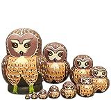 Moonmo 10pcs Cute Vivid Big Belly Shape Brown Owl