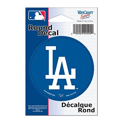 ac1288229cb Image Unavailable. Image not available for. Color  Wincraft MLB Los Angeles  Dodgers WCR68024091 Round Vinyl Decal ...