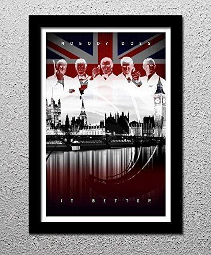 James Bond - 007 Sean Connery - Roger Moore - Timothy Dalton - Pierce Brosnan - Daniel Craig - Original Minimalist Art Poster Print