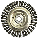 Radnor 5'' X 5/8'' - 11 Carbon Steel Stringer Bead Twist Knot Wire Wheel Brush For Use On Bench/Pedestal, Die And Right Angle Grinders