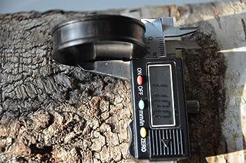 Chic de Madera Net Plug Cóncavo Hierro Madera Estructura de Punto Negro talladas a Mano Madera Plug Tribal túnel Expander: Amazon.es: Joyería