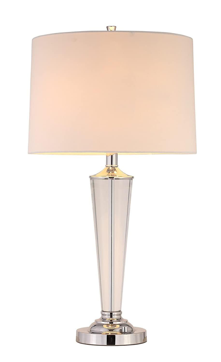 Artiva USA LED7446TRC Suite Collection 70 H Modern Chrome 3-Light LED Crystal Torchiere Floor Lamp with Dimmer
