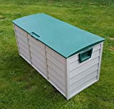Outdoor Garden Plastic Storage Utility Chest Cushion Shed Box 248L