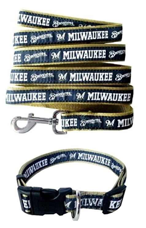 a0461e646 Amazon.com  Milwaukee Brewers Nylon Collar and Matching Leash for ...