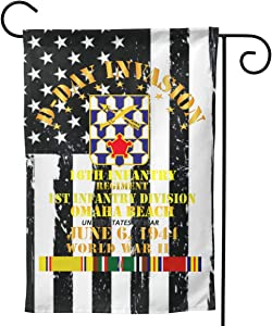 """16th Infantry REGT 1st ID D Day SVC Welcome Yard Garden Flag Banners for Patio Lawn Outdoor Home Decor 28""""x40"""""""