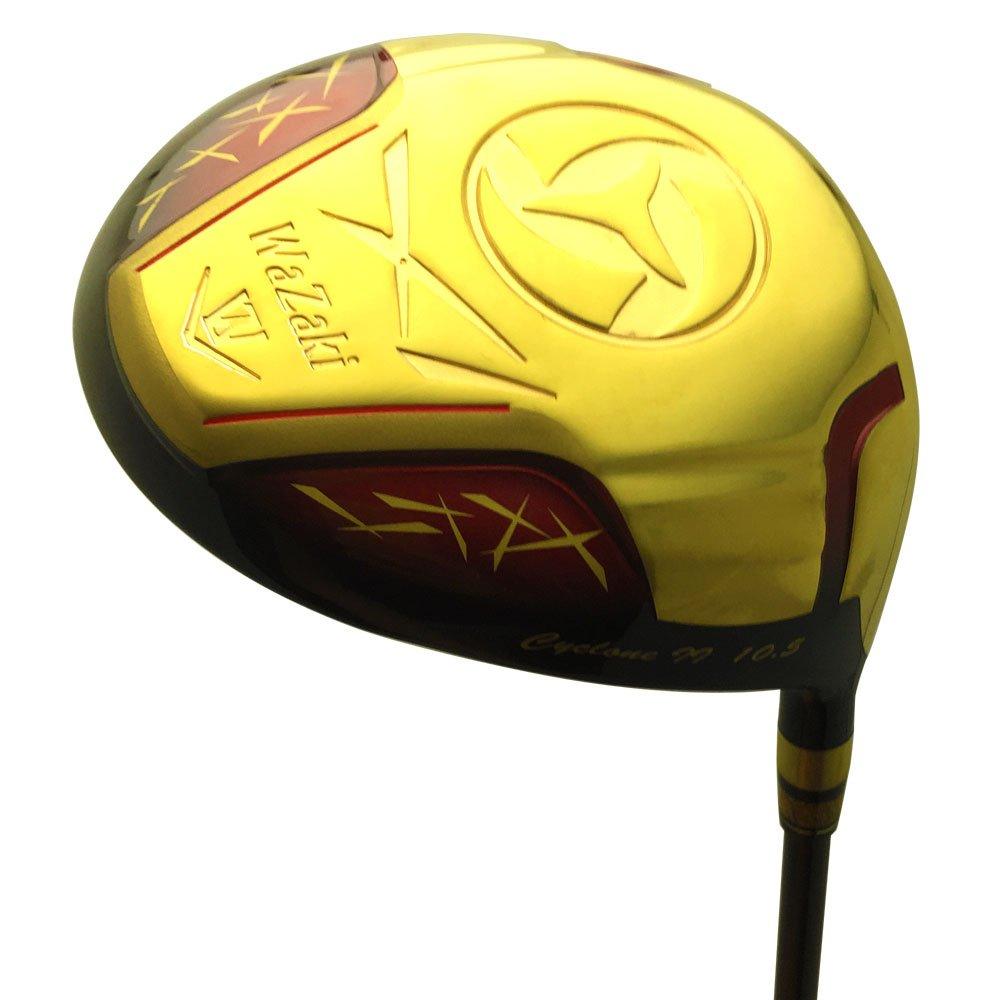 wazaki Japan Gold Finish Cyclone II Driver Golf Club+Headcover(10.5 Degree Loft,Close Face Angle,Right Handed,Pro Regular Flex,260 CPM) by wazaki (Image #2)