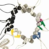 Wholesale Kids Bulk Earbuds Headphones Individually Bagged 50 Pack 6 Assorted Colors for Schools, Libraries, Hospitals