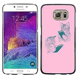 Planetar® ( Tiger Animal Roar Yawn Ferocious Tongue ) Samsung Galaxy S6 / SM-G920 / SM-G920A / SM-G920T / SM-G920F / SM-G920I Fundas Cover Cubre Hard Case Cover