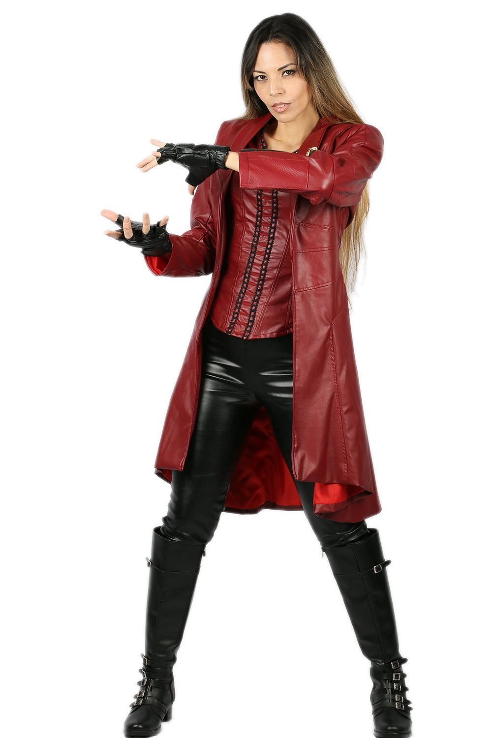 Xcoser Scarlet Witch Costume for Wanda Maximoff Hallloween ...