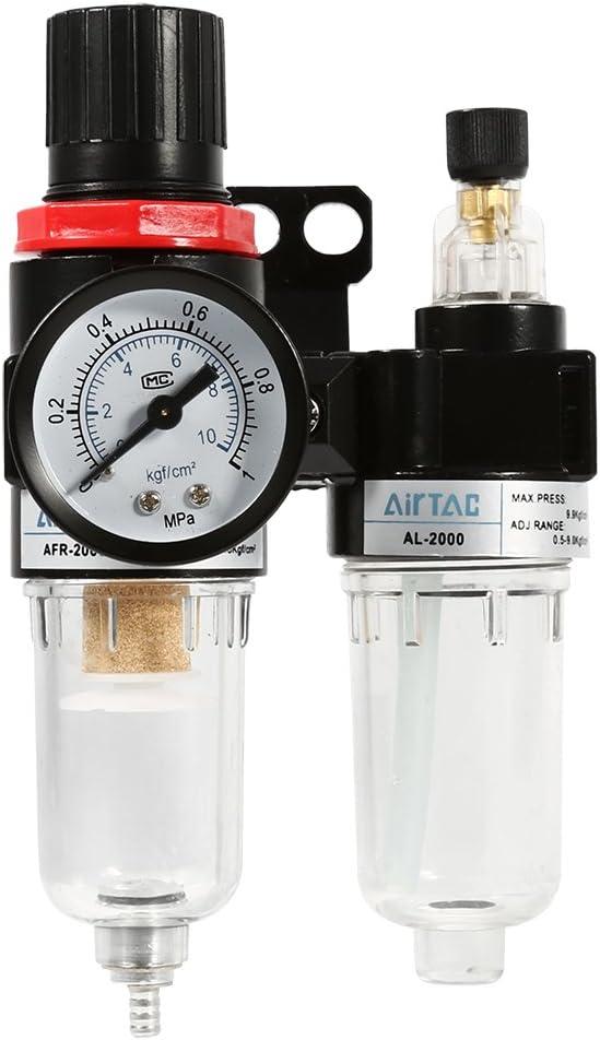 Air Filter Pressure Regulator Oil//Water Separator W// Trap Airbrush Compressor A+