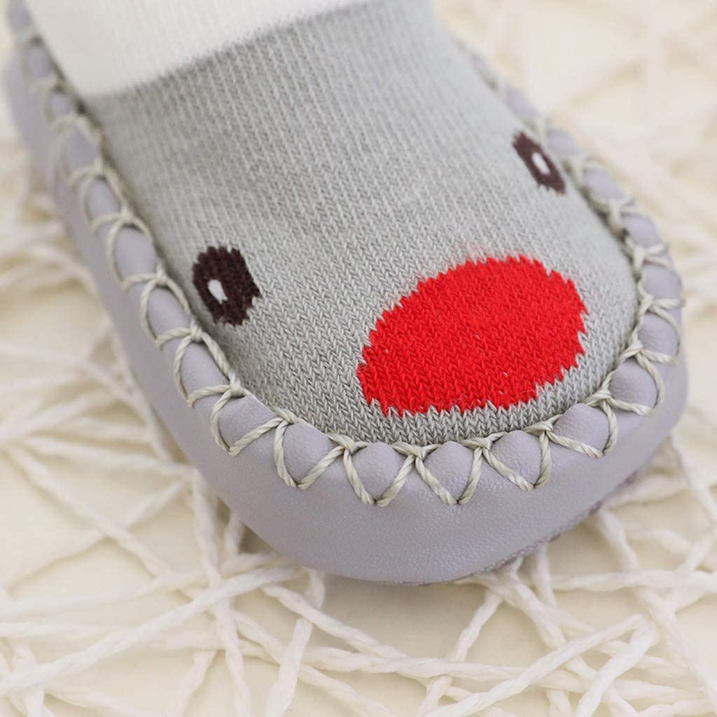 LONGROA Babyschuhe Socken rutschfeste Kleinkind Boden Socken Kinder Bodensocken Socken-Pantoffel-Schuh-Stiefel Stricksocke Baumwolle thermosocken