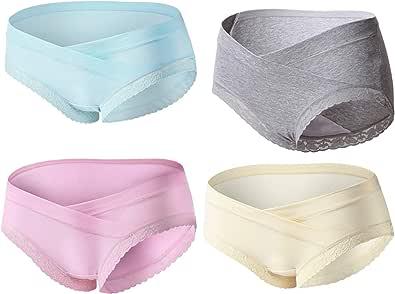 Slimart 4 PCS Cotton Maternity Pregnant Mother Panties Lingerie Briefs Underpants Underwear