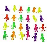 YeahiBaby 24PCS TPR Figuras de acción de Esqueleto Humano Flexible Coloreado Juguetes a Granel para niños (Color Aleatorio)