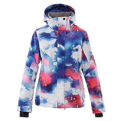 Mous One Women s Waterproof Ski Jacket Colorful Snowboard Coat Printed Ski  Bib Suit(XS) 2f5cb0fc2
