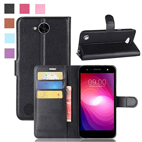 cheap for discount 001d8 92ae6 LG X Charge Case, LG Fiesta LTE/LG Fiesta 2 Case, LG X Power 2 Case,  [LuckQR] PU Leather Wallet Case, Folding Kickstand, Folio Design with Card  & Cash ...
