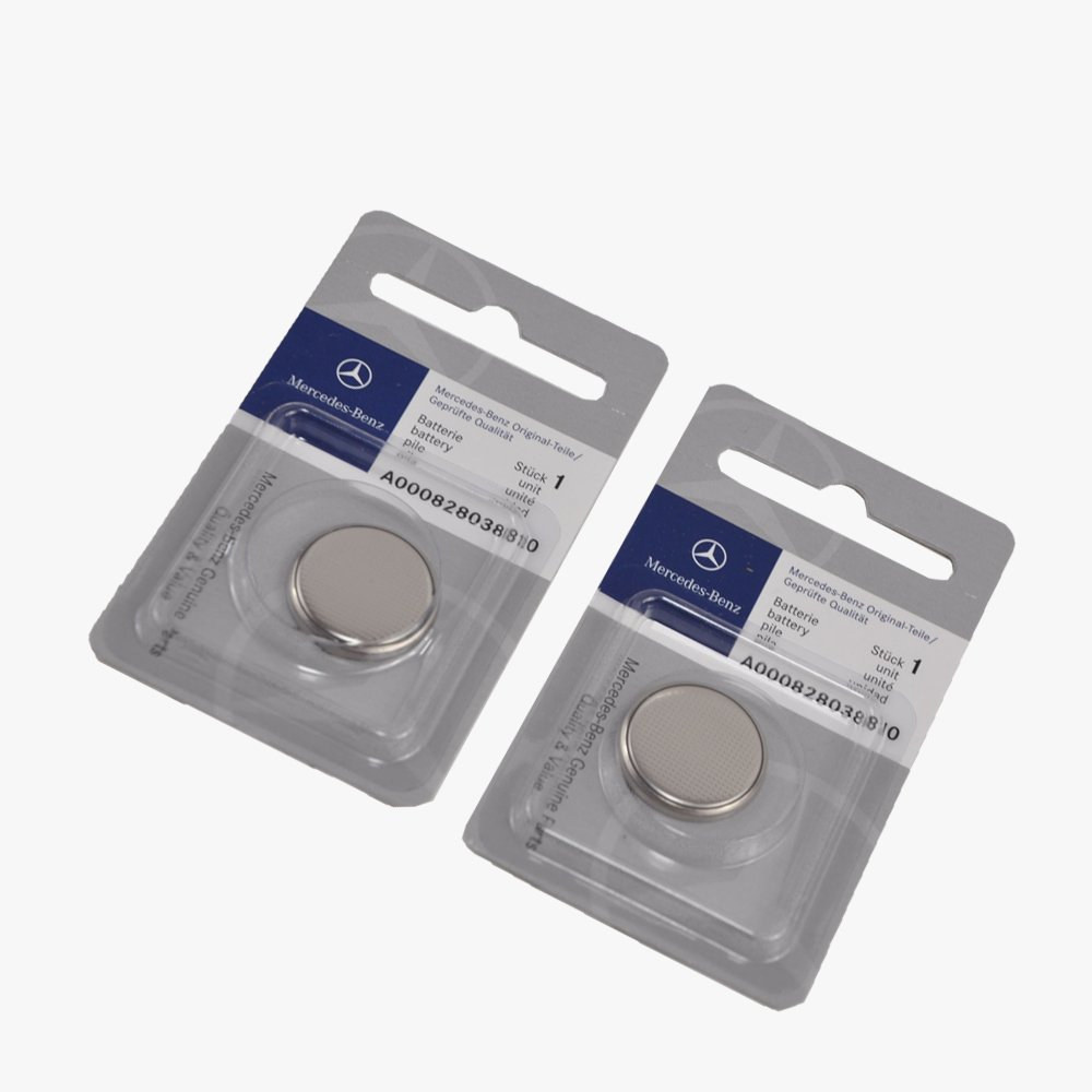 Amazon.com: Mercedes-Benz Remote Key Battery Keyless Entry Genuine Original  0000388 (2pcs): Automotive