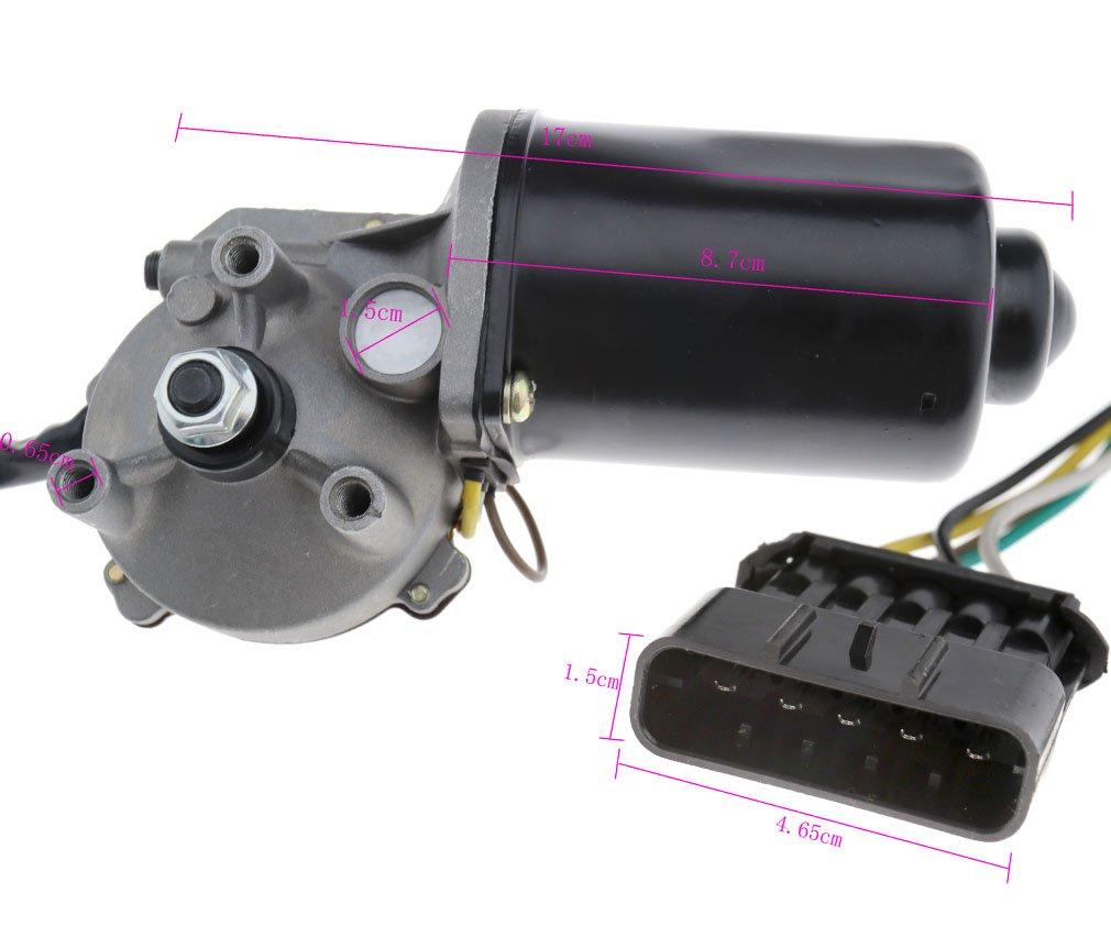 12 V motor limpiaparabrisas delantero parabrisas para Opel Astra G Mk4 MPN 23000826 W/tornillos: Amazon.es: Coche y moto