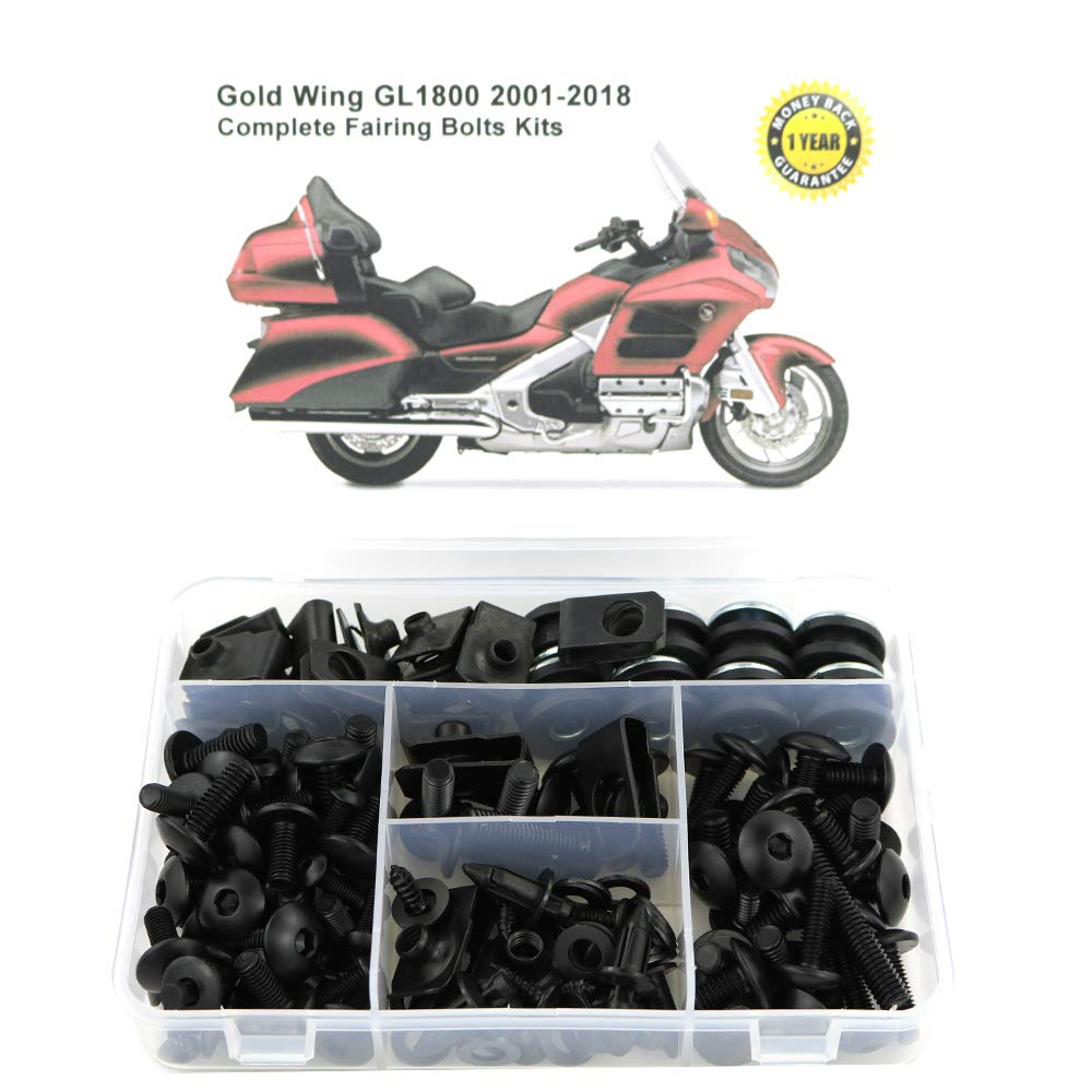 for HONDA Gold Wing GL1800 2001 2002 2003 2007 2005 2006 2007 2008 2009 2010 2011 2012 2013 2014 Xitomer Full Sets Fairing Bolts Kits titanium Mounting Kits Washers//Nuts//Fastenings//Clips//Grommets