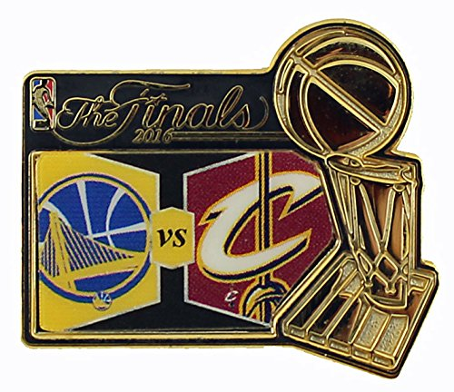 Official 2016 NBA Finals Dueling Lapel Pin Cleveland Cavaliers Vs Golden State Warriors