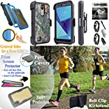 Value Pack + for 5'' LG Phoenix 3 Aristo LV3 K4 2017 Case Phone Case 360° Cover Screen Protector Back Window Clip Holster Kick stand Shock Bumper (Camo Solid)