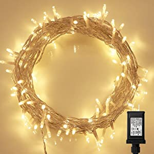 String Lights, 100 LED Indoor Fairy Lights with [Remote] &[Timer] on 36ft Clear String for Bedroom, Patio, Garden, Gate, Yard, Party, Wedding (8 Modes, Dimmable, Low Voltage Plug, Warm White)