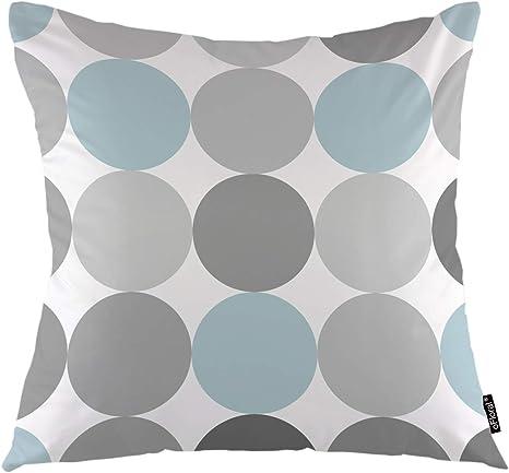 Amazon Com Ofloral Circles Throw Pillow Covers Macarons Huge Dots Geometric Polka Girl Spots Decorative Square Pillow Case 18 X18 Pillowcase Home Decor For Sofa Bedroom Livingroom Home Kitchen