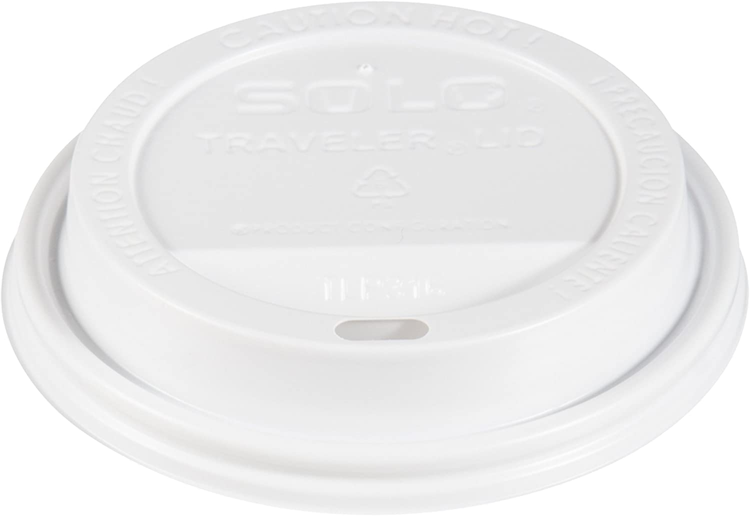 Solo TLP316-0007 White Traveler Plastic Lid - For Solo Paper Hot Cups (Case of 1000)