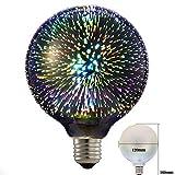 Eforlighting 4W E26 LED 3D Light Bulb AC110V Creative Colorful Decorative Lamp G125 Filament Fireworks Ball Light for Home Bar Cafe Party Wedding Show Ornament Store Decor