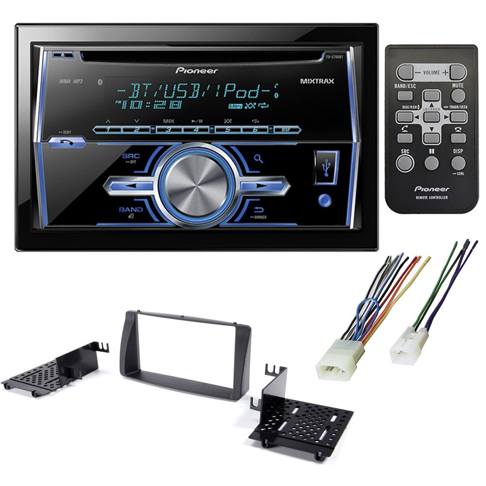 CAR AFTERMARKET STEREO CD PLAYER RECEIVER + DASH KIT INSTALLATION + WIRE HARNESS FOR TOYOTA COROLLA 2003-2008 by PIONEER , AMERICAN INTERNATIONAL , METRA, SCOSCHE