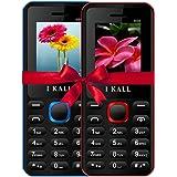 I Kall 4.57 cm (1.8 Inch) Mobile Phone Combo - K66 (Blue & Red)