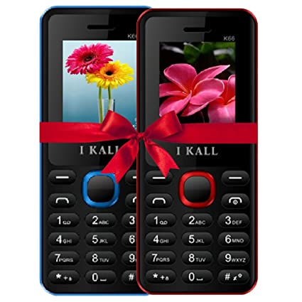 3d8ad8626e0 IKall 4.57 Cm (1.8 Inch) Mobile Phone Combo - K66 (Blue   Red)  Amazon.in   Electronics