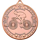Lapal Dimension CYCLING 'TRI STAR' MEDAL - BRONZE 2in PACK OF TEN
