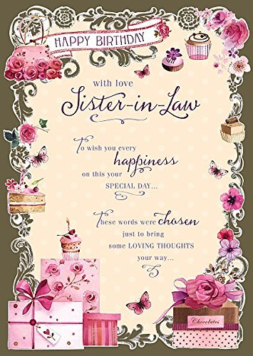 Amazon sister in law happy birthday nice verse quality sister in law happy birthday nice verse quality greeting card m4hsunfo